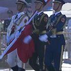 10月1日,天安门广场升旗仪式,心潮澎湃!我爱你,中国!❤中秋国庆双节同庆#爱我中华#