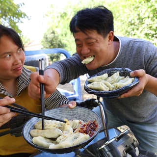 胖妹巡村溜达一圈,摘豆角包水饺,鲜嫩多汁,俩口子差点抢着吃#美食##吃秀##美食教程#