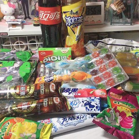 【几口奶茶_美拍】便利店的便宜零食#购物分享##我...