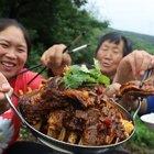 76岁奶奶想吃肉,胖妹260炖6斤羊排,香辣够味,祖孙三人吃过瘾#美食##胖妹##吃货#