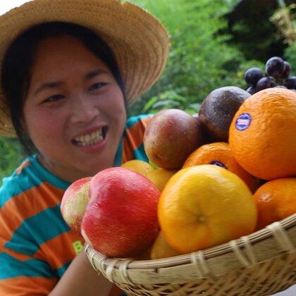 夏日食欲不振?胖妹搞6种水果,做撞奶整蛊大洋,让他差点流泪#美食##胖妹##吃货#