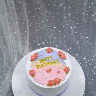 原味奶油蛋糕,小清新系列,好吃到男朋友太多 #蛋糕培训 #蛋糕裱花 #网红款