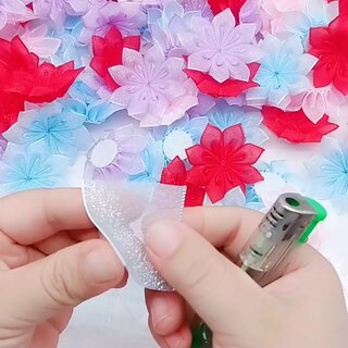 丝带花朵~#手工花#